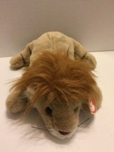 "Ty 1996 Tan Soft Plush Lion Approx 14"" Head to Tail Laying Down - $5.89"
