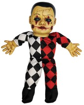 Harlequin Toy TALKING CREEPY HELLEQUIN CLOWN HAUNTED DOLL Horror Prop De... - $39.57