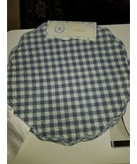 The Prairie Rachel Ashwell Blue Gingham Placemat Reversible Round Set of 4 - $19.99
