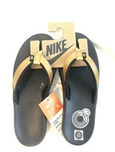 Nike Women's Bella Kai Thong Sandals Flip Flops - Black/Gold - Size 6 - $32.00