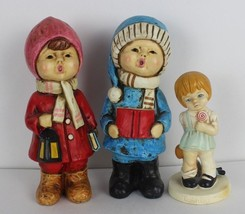 Vintage 1972 Twinton little girl with doll and two singer kids made in J... - $18.48