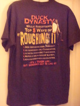 """DUCK DYNASTY """"TOP 5 WAYS OF ROUGHING IT"""" MEN'S BROWN COTTON T-SHIRT  - $5.97"""