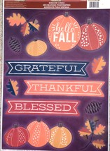 Static Window Clings Thanksgiving Grateful Thankful Blessed New - $8.42