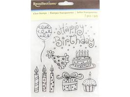 Recollections Doodle Birthday Clear Stamp Set #119936