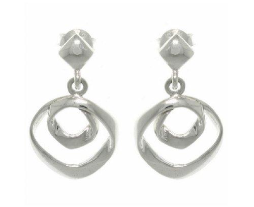101acc8f3 315y1pbo6jl. sl1500. 315y1pbo6jl. sl1500. Jewelry Trends Sterling Silver  Free Form Circles Hoop Dangle Earrings