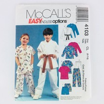 McCalls Sewing Pattern Children Easy Top Short Pants Karate 6 7 8 Boy Gi... - $6.57