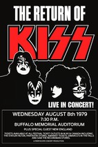 "KISS Band - ""Return Of KISS"" Buffalo 24 x 36 Reproduction Poster - Conce... - $45.00"