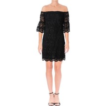 Lauren Ralph Lauren Womens Ashlyn Lace Sheath Cocktail Black Dress 10, 2597-3 - $83.30