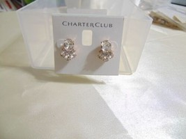 Charter Club Rose Gold-Tone Crystal Cluster Stud Earrings B615 $19 - $10.55