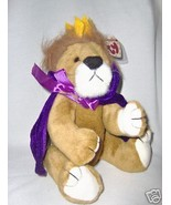 Sire, 13 inch Lion with Purple Cape -Attic Treasures by Ty - $9.90