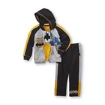 DC Comic Batman Boys 3 Piece Jogging Outfit Size  4 EUC - $12.34