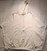 Men Zipper Hooded Sweatshirt White Fruit of the Loom 50/50 2 Pockets 100 Pc - $499.00