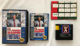 ☆ NFL John Madden Football 93 (Sega Genesis 1993) COMPLETE in Box Game M... - $7.99