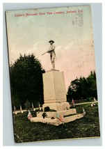Vintage Early 1900's Soldier's Monument River View Cemetery Portland Ore... - $15.81