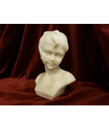 Antique White Marble Portrait Bust Sculpture of Boy Signed Umberto Stiac... - £1,089.22 GBP