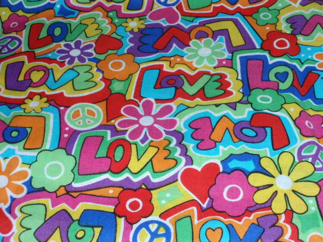 "Love Too Spring Creative Very Colorful Flowers 100% Cotton Fabric 44"" Wide  Sold"