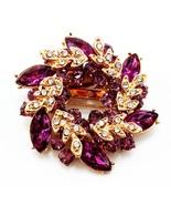 Purple Flowers Shape Brooch Pins Chinese Redbud Scarf Buckle Garment Bro... - $10.00