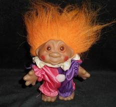 Vintage 1986 Adopt a Norfin Troll Dam Arancione Capelli Clown Del Circo Figurina - $34.30