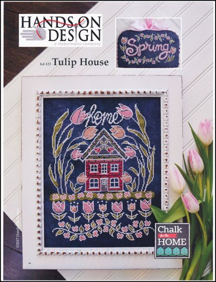 Tulip House Chalk for the Home Series cross stitch chart Hands On Design
