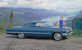 1963 Chevrolet Impala blue side   24 x 36 INCH    sports car - $18.99