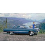 1963 Chevrolet Impala blue side | 24 x 36 INCH |  sports car - $18.99