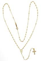 Mini Collar Rosario Oro Amarillo 750 18K, Medalla Milagrosa, Cruz, 48 CM image 2