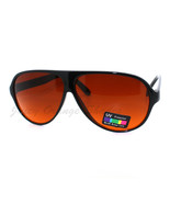 Racer Aviator Sunglasses Amber Lens Block Blue ... - $9.95
