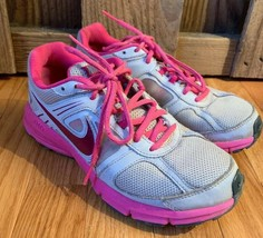 Nike Air Relentless Reslon Grey Gray Hot Pink Swoosh Womens Athletic Sho... - £15.97 GBP