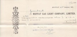 Moffat Gas Light Company, Limited 1923 Reading Payment Cancel Receipt Re... - $7.59