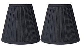 Urbanest 1101554 Black Mushroom Pleated Hardback Lamp Shades, Set of 2, 5x9x8.5  - $27.71