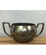 Vintage Art DecoOneida Silversmiths Silverplate Sugar Bowl Two Handled T... - $19.43