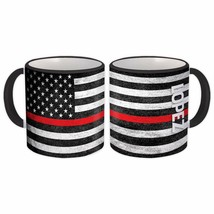 LOPEZ Family Name : American Flag Gift Mug Firefighter Thin Line Persona... - $13.37+