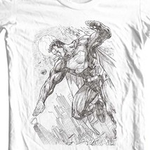 Superman Pencil Art T-shirt DC comic superhero graphic cotton tee SM1816 image 1