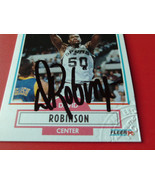 DAVID  ROBINSON  1990 / 91  FLEER  #172  SPURS  HAND SIGNED  AUTO  AUTHE... - $1.320,80 MXN