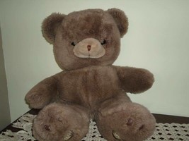 Vintage Gund JUMBO Brown Teddy Bear Plush 25 inch 1980s - $182.17