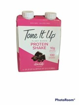 8 Pack. Tone It Up Plant Based Protein Shake -Chocolate - 8oz, Expired - $4.00