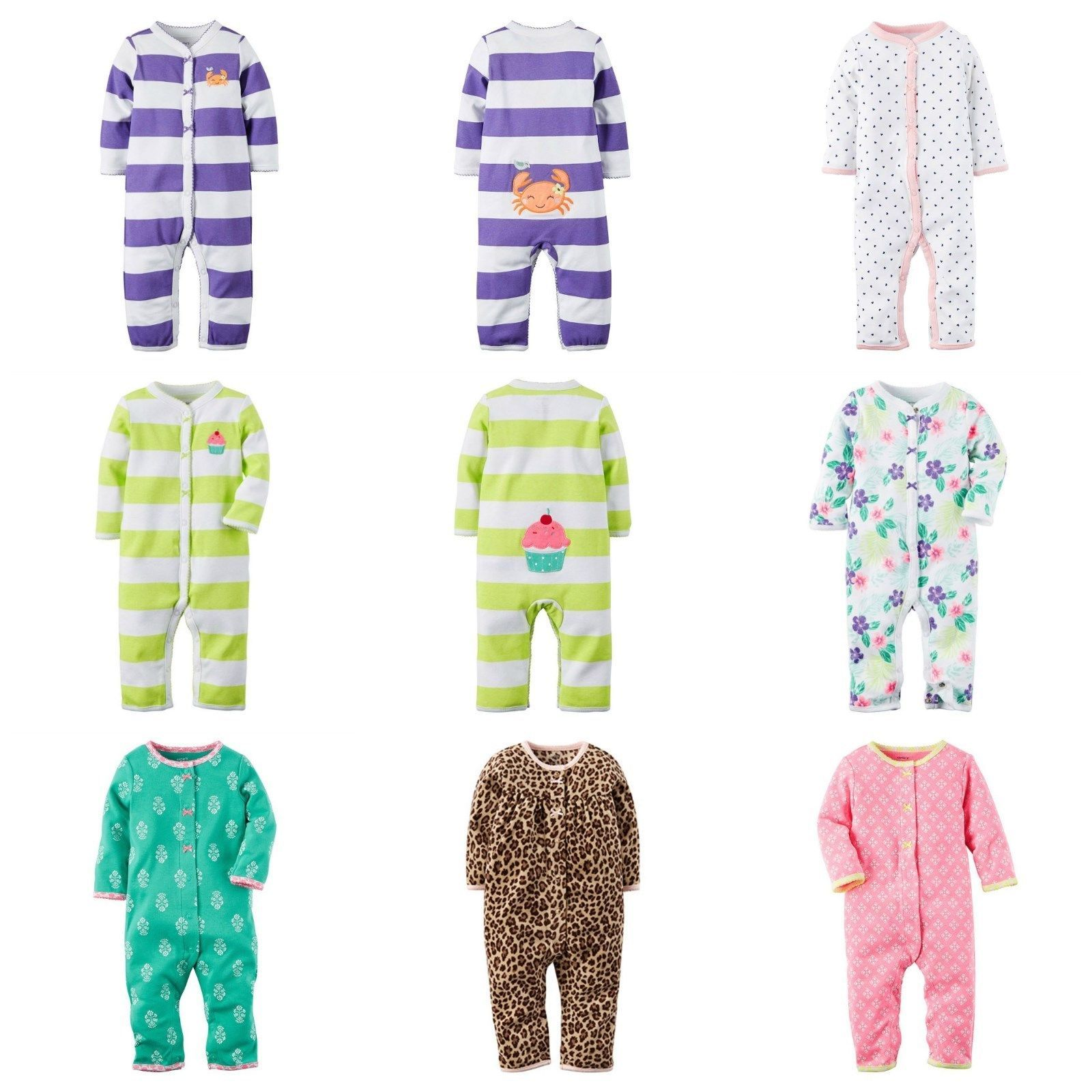 a614412a1 NWT Carters Baby Girl Footless PJ Coveralls and 13 similar items