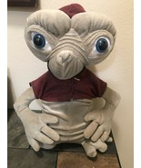 Rare E. T. Extra Terrestrial Plush Doll Red Hoodie Sweat Plush Collectible - $87.59