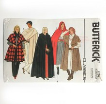 Butterick 6796 Hooded Cape Shawl Collar Cloak Evening Length Misses 8-18... - $15.43