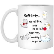 Cat Soft Kitty Warm Kitty Little Ball of Fur XP8434 11 oz. White Coffee Mug - $14.36