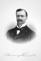 HENRY RUSSELL Albany Merchant New York - SUPERB Portrait 1877 Antique Print - $13.86
