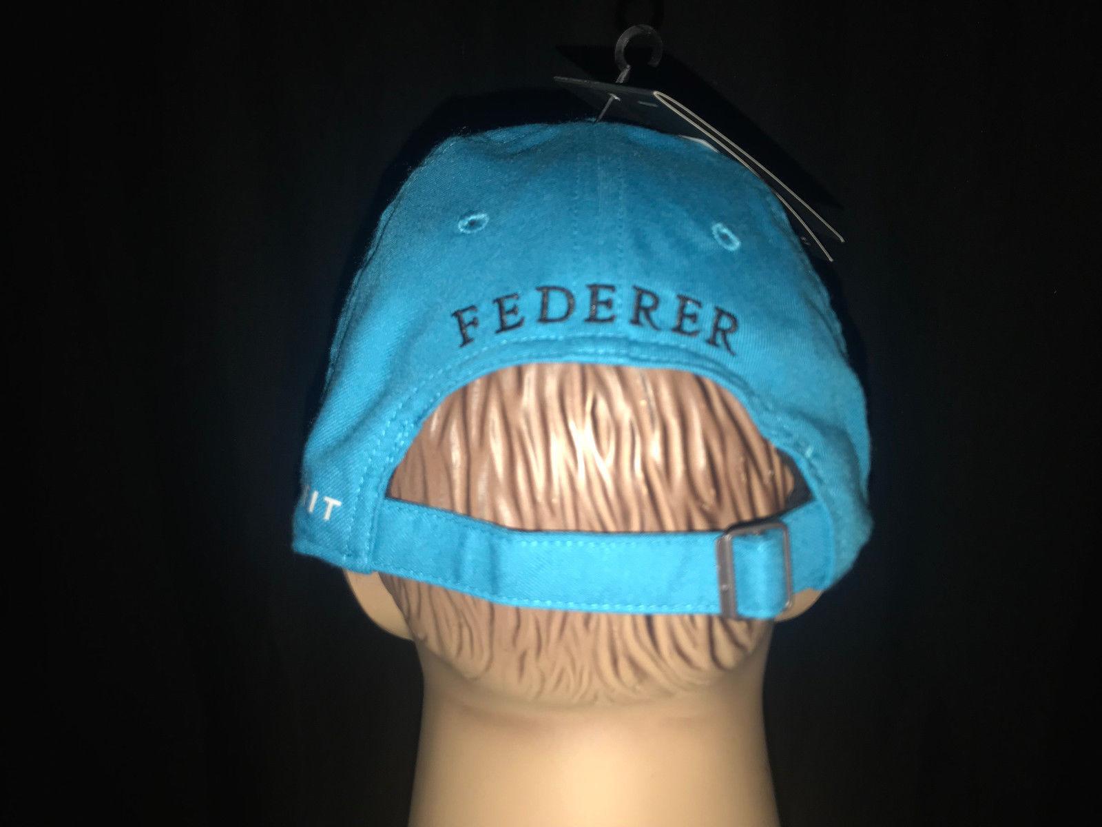 Nike RF Roger Federer Tennis Dri-fit Hat Cap Neo Turquoise