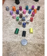 Paxcoo 24 Assorted Color Polyester Sewing Thread spools 1000 Yards Each #75 - $13.09