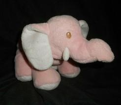Baby Ganz Rosa Weiß Elefant BG1771 Rassel Plüschtier Spielzeug Weich Lovey - $24.04