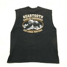 Harley Davidson Dragon Chemise sans Manche XL Beartooth Grizzly Rouge Lodge image 2