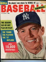 Dell Baseball Annual #6 1957-Mickey Mantle-info-pix-MLB-VG - $78.81