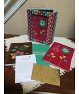 Papyrus- 3D flower garden blank Cards (Set of 6) 6 blank note and 6 enve... - $14.85
