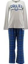 NFL Women's Pajama Set Long Slv Top Flannel Pants Colts XXL NEW A387687 - $30.67