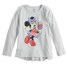 Disney's Minnie Mouse Girls 12 Ruffled-Back Long-Sleeve Tee by Jumping Beans - $12.00