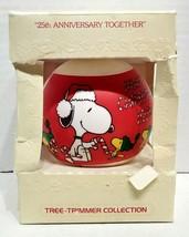 1979 Hallmark Glass Ball Ornament Peanuts 25th Anniversary Together QX2507 - $30.00